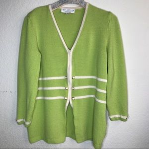 ST JOHN COLLECTION/MARIE GRAY 3/4 sleeve cardigan